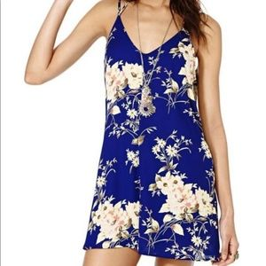 Lush Blue Romper Dress Size Small